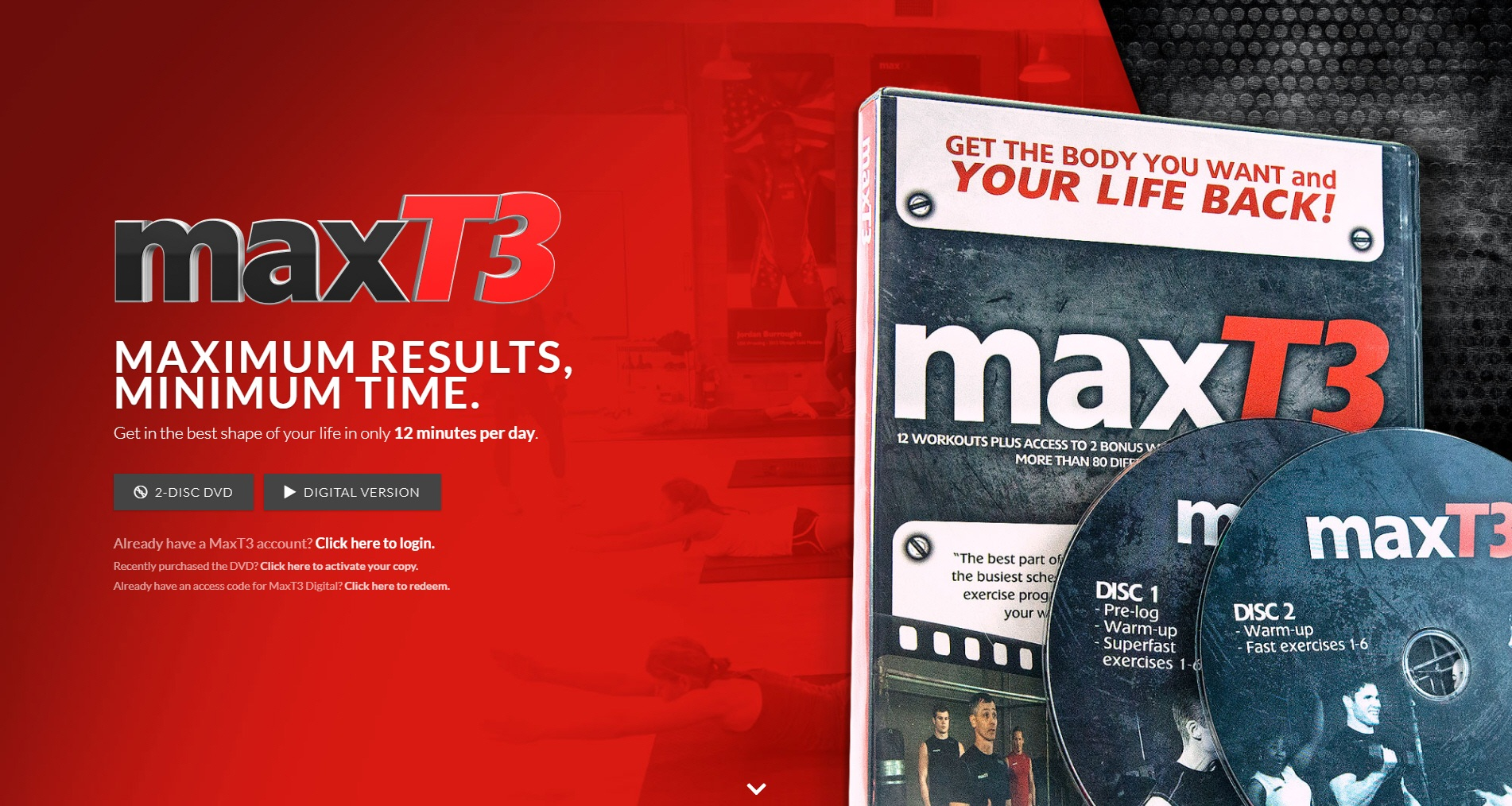 MaxT3 Workouts
